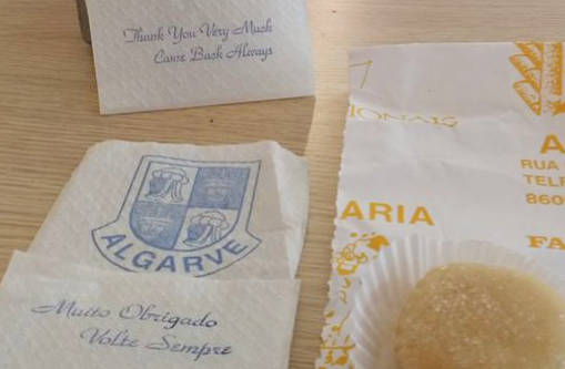 paper napkin with dodgy English translation