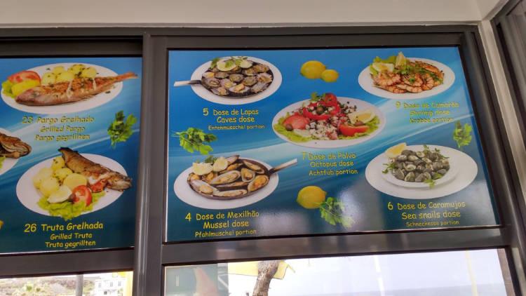 picture food menu at restuarant
